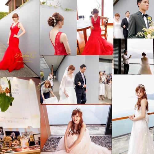 媒體報導 The LALU 涵碧樓『浪漫秘境 婚禮體驗日』彩妝造型紀錄。NadiaLee台中新秘