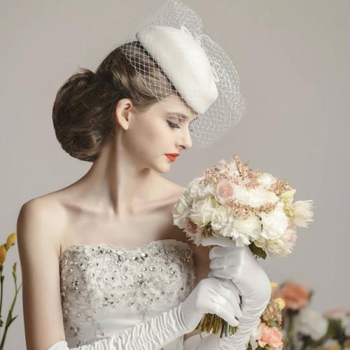 商業雜誌拍攝-復古婚紗風格造型