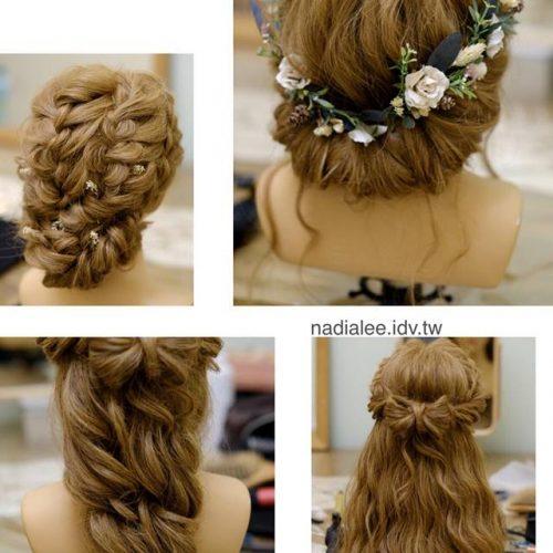 新秘課程-新娘髮型教學-編髮與魚骨運用篇
