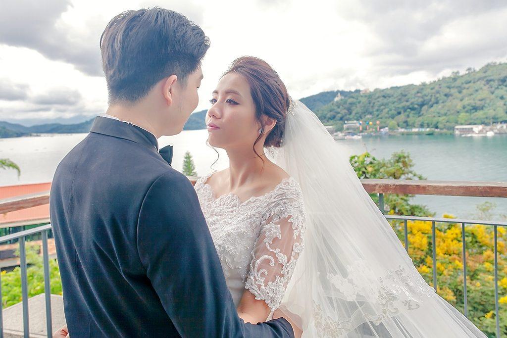 戶外婚禮,日月潭婚禮,美式婚禮,歐美風格彩妝,時尚造型