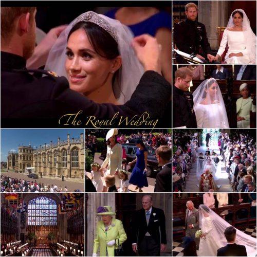 婚禮造型/英國皇室婚禮-哈利王子與梅根婚紗