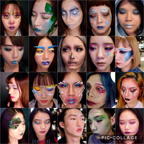 彩妝課程 - 創意仿妝 結合異質素材 [ NADIALEE彩妝造型學苑 ]