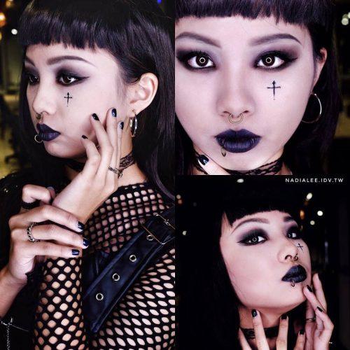 [ 彩妝課程推薦 ] 彩妝師NADIALEE 主題哥德風暗黑版 彩妝教學示範