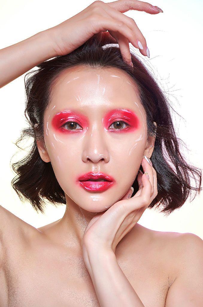 彩妝NADIA攝影梁鬍鬚 時尚雜誌 Hero渝柔 臉部彩繪