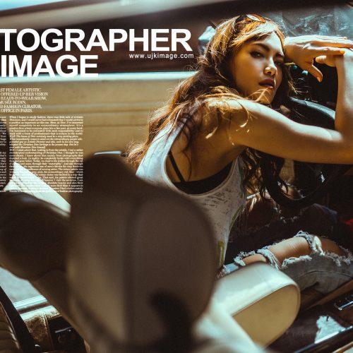 形象照整體造型 老車美式風格 攝影:油甲桂 UJK IMAGE 彩妝:NADIALEE