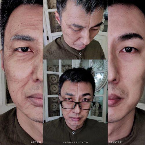 特效彩妝教學-老妝示範 人體彩繪